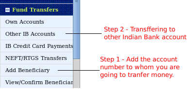 Indian Bank Internet Banking Fund Transfer You Can