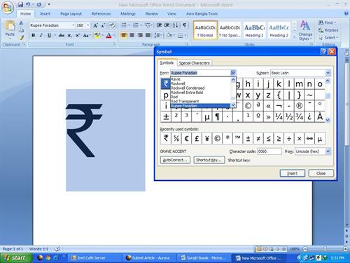 How To Get Indian Rupee Symbol On Your Documents In Microsoft Word