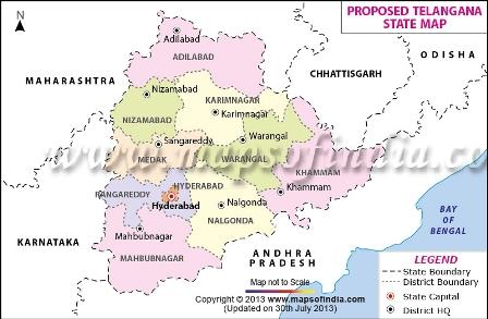 How the new Telangana State became a part of India's map Map Of Andhra Pradesh And Telangana on telangana seemandhra and, telangana districts list, telangana state map, state regions map, malabar coast india map, ap map,
