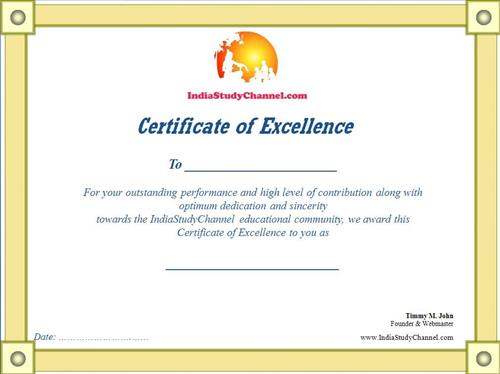 How to earn badges and certificate of excellence at for Speech contest certificate template