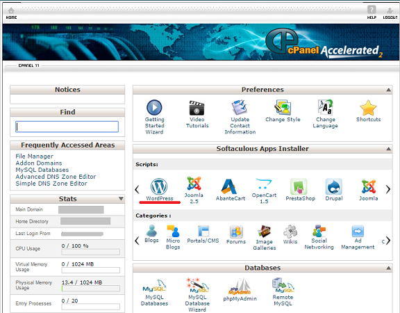Beginners guide to how to install wordpress in cpanel for How to install wordpress template in cpanel