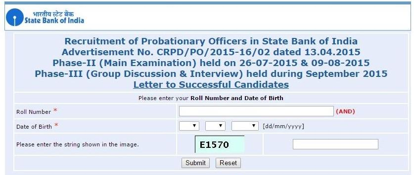 Sbi probationary officers recruitment 2015 final results sbi po exam 2015 final results website altavistaventures Image collections