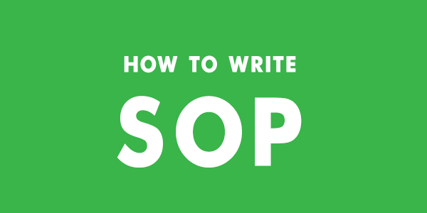 How to write a good SOP