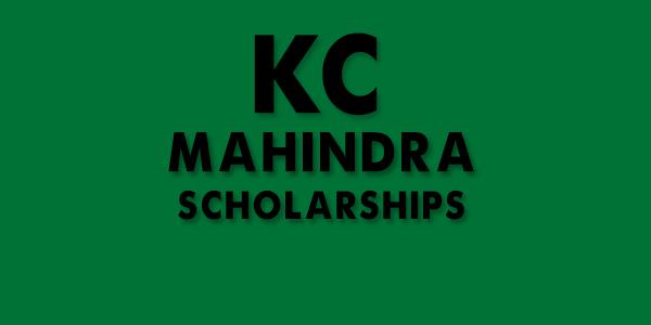 KC Mahindra Scholarships