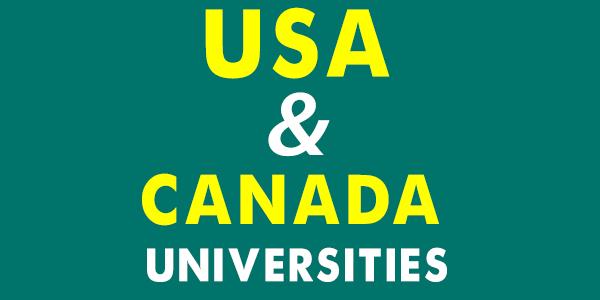 USA Canada Universities