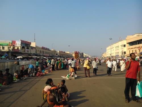 Road in front of the Jagannath temple