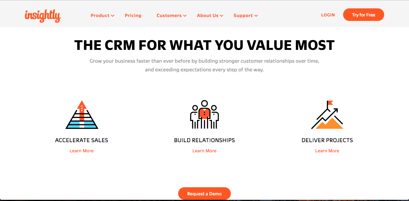Insightly Best CRM Software for small business