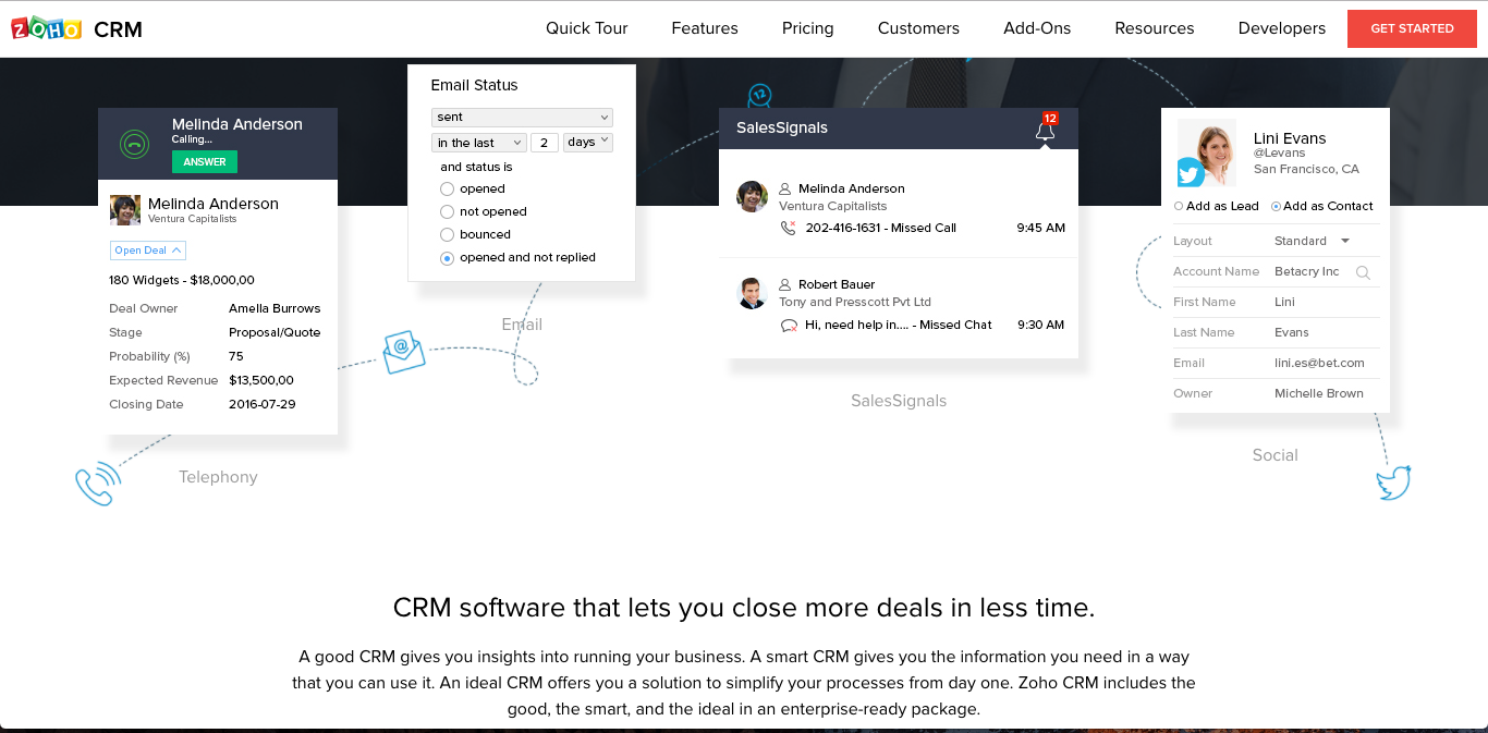 zoho crm Best CRM Software