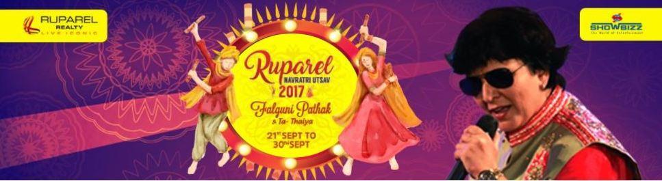 Falguni Pathak 2017 Mumbai Navratri Event Banner
