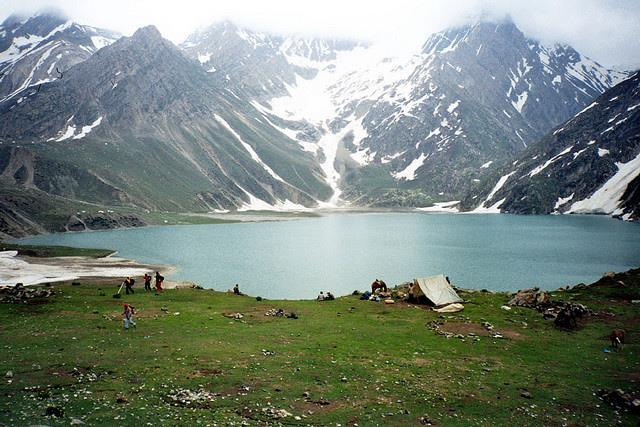 Seshnag Lake of Phalgam of Kashmir Valley