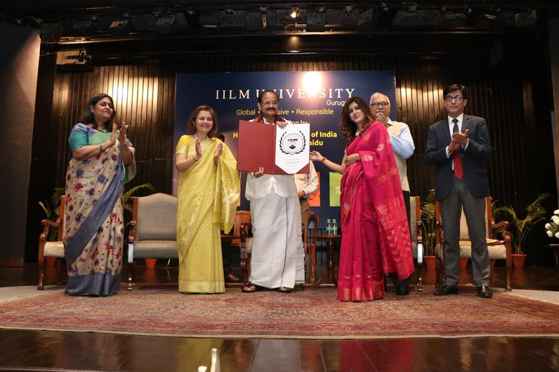 Pic 2 Release of IILM University Seal by VP of India