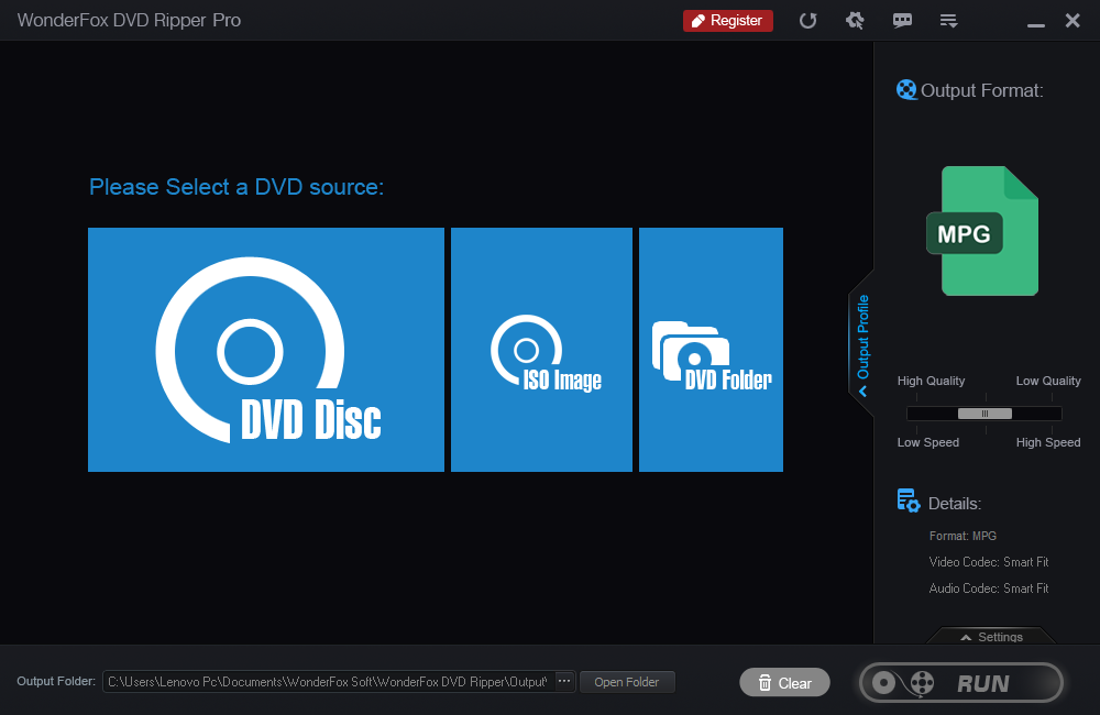 Select A DVD Source
