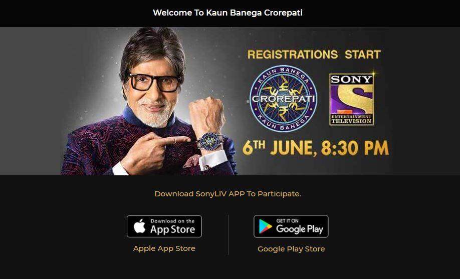 Live registrations open tonight for 2018 KBC 10 Sony TV