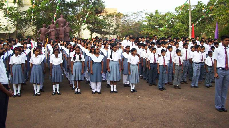 The Republic Day Celebrations at Jawahar Navodaya Vidyalaya