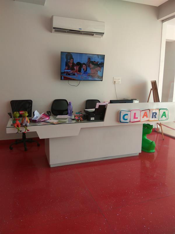 The main reception at Clara Global School
