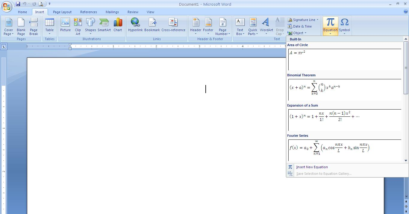 how to add subscript to equation in word