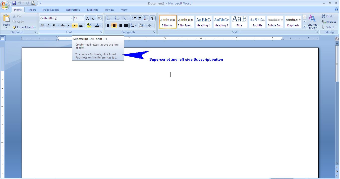 how to put squared symbol in word