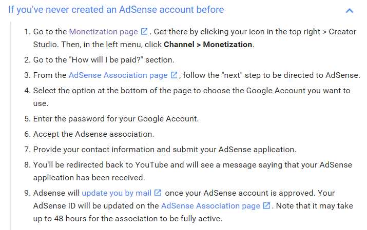 how to get paid from adsense