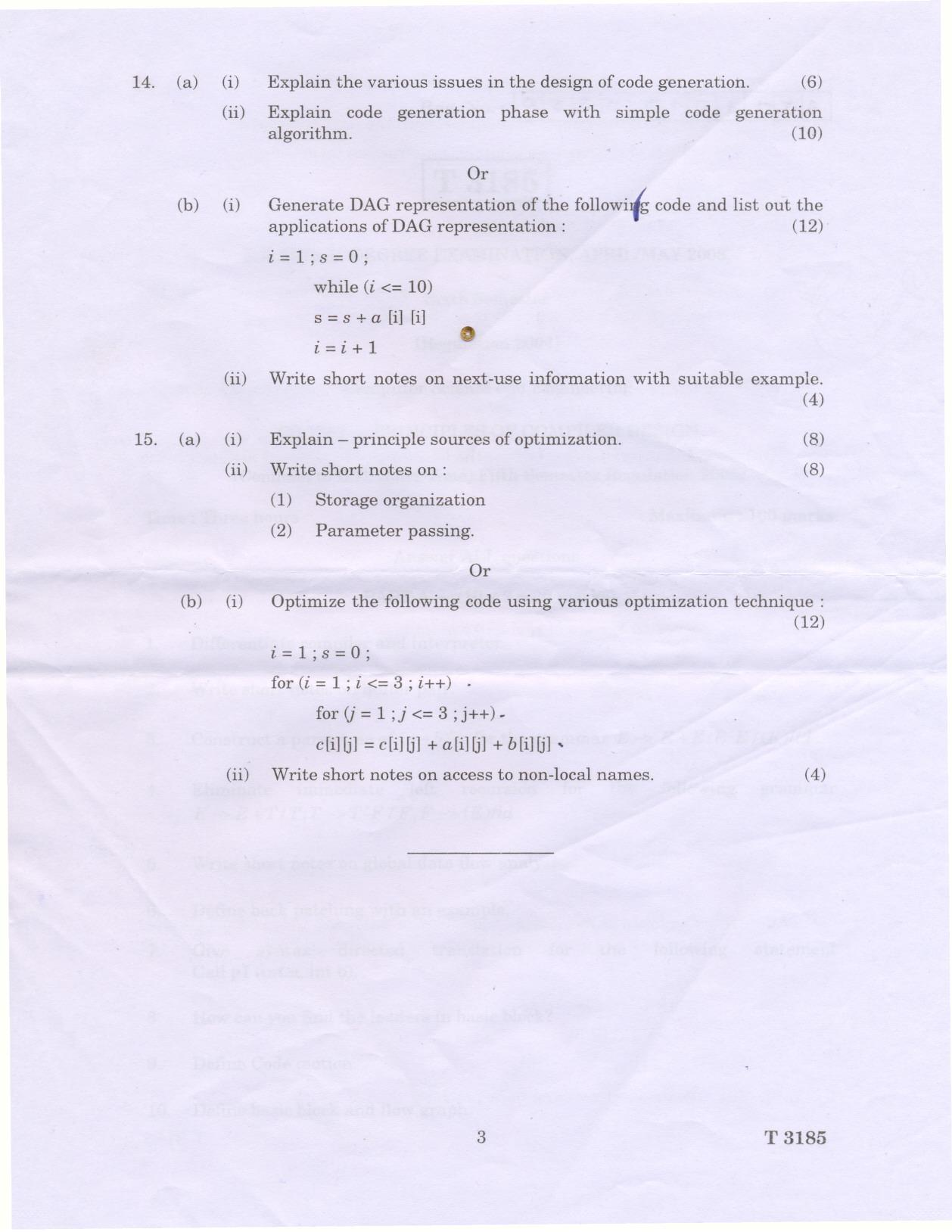 compiler design research papers