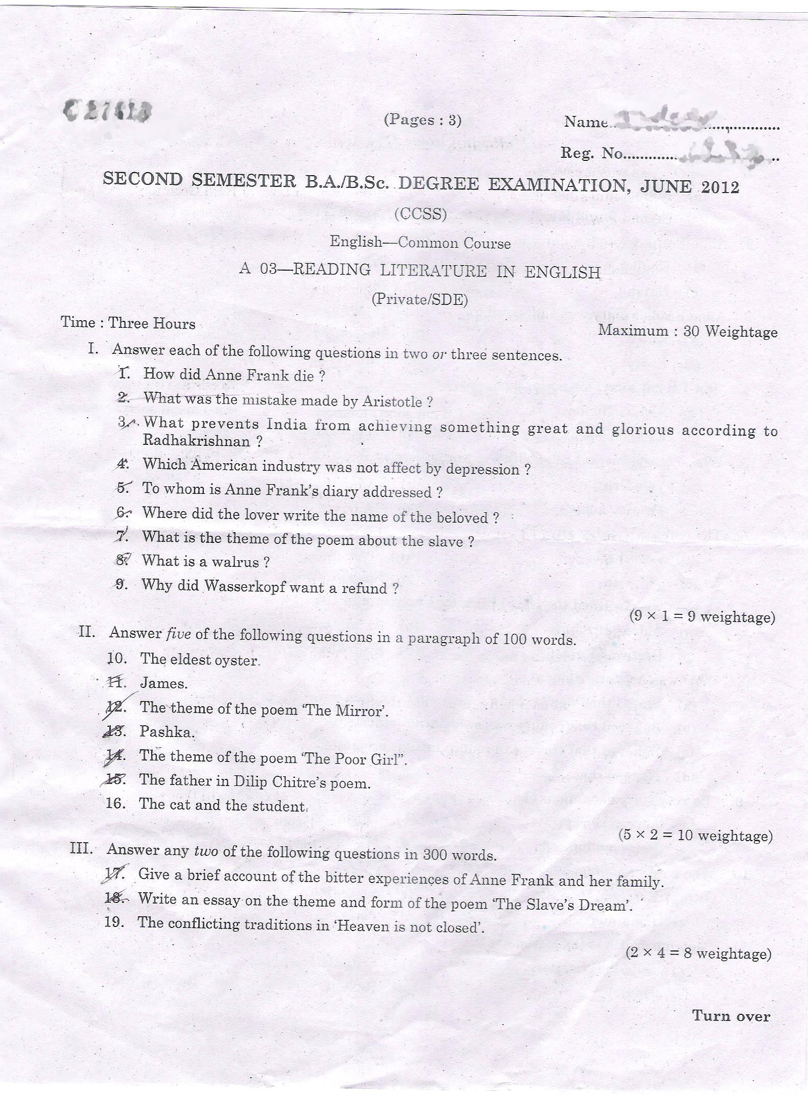 english 30 diploma essay questions
