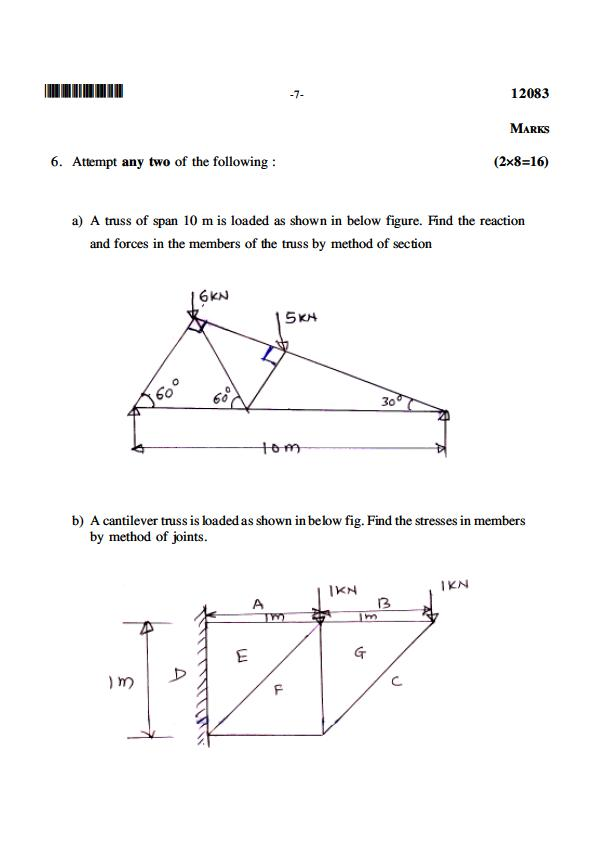 Education Diploma Civil Engineering Msbte Question Paper For