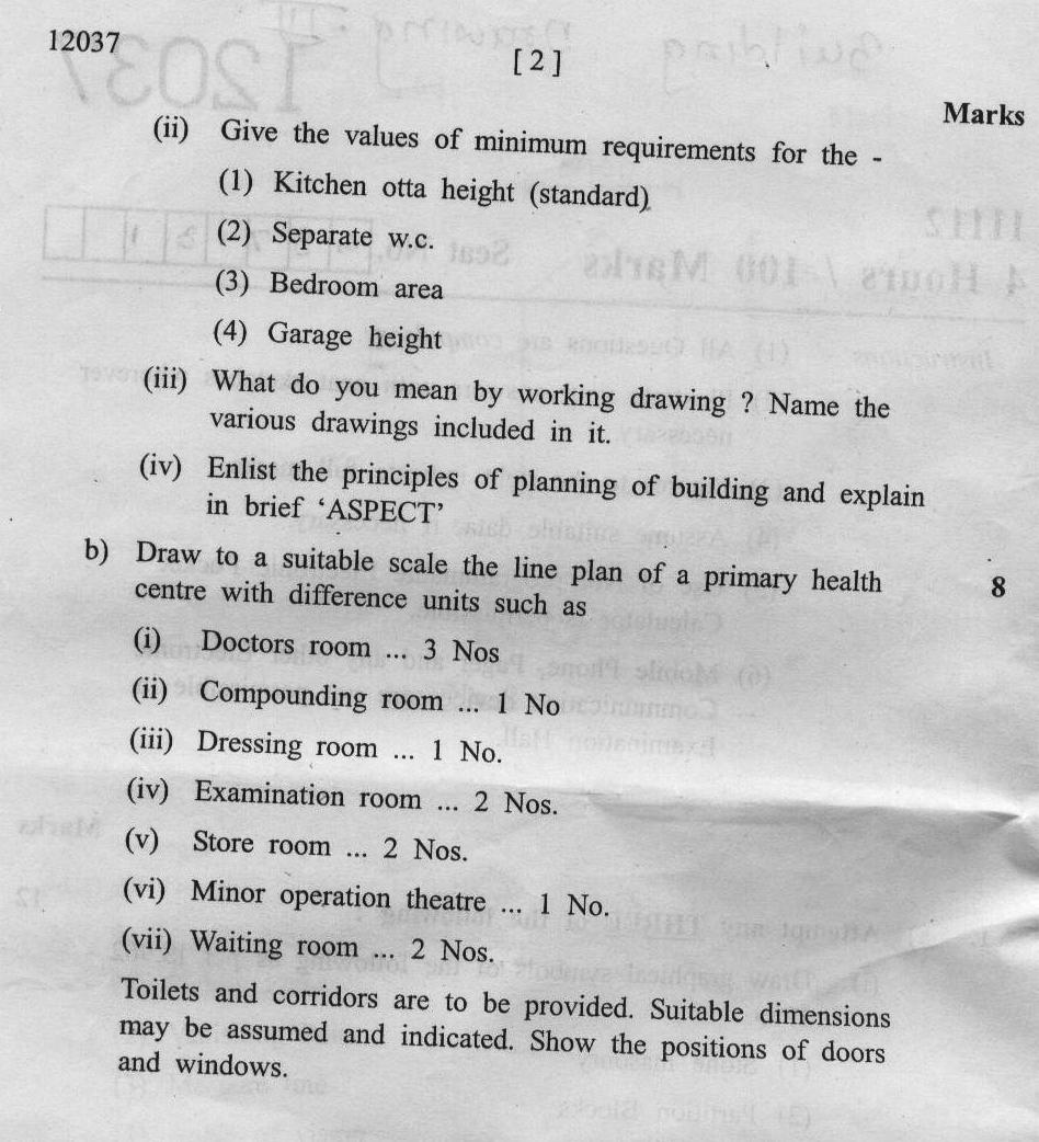 maharashtra state board of technical education msbte question paper for diploma in