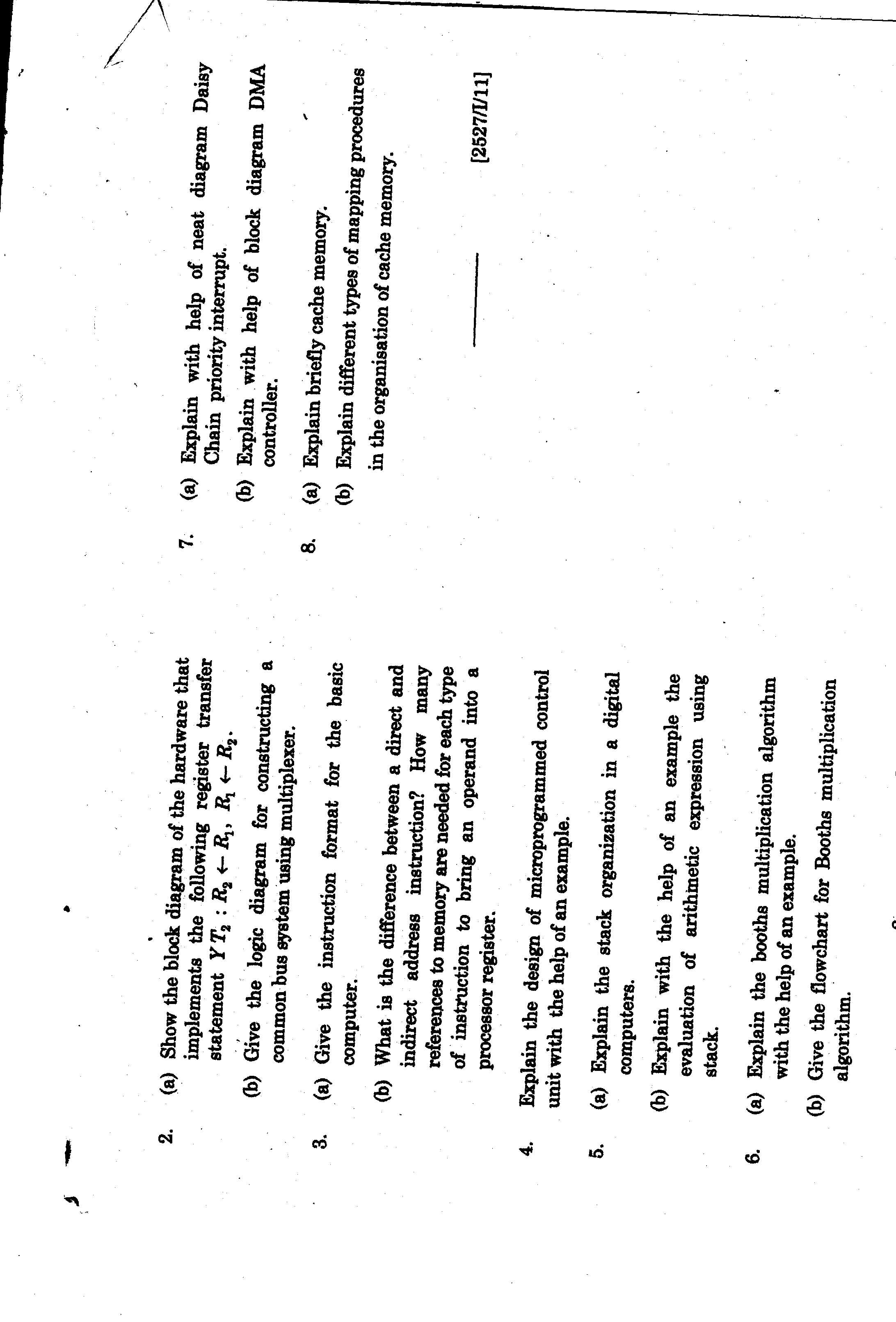 andhra university computer organization model question papers
