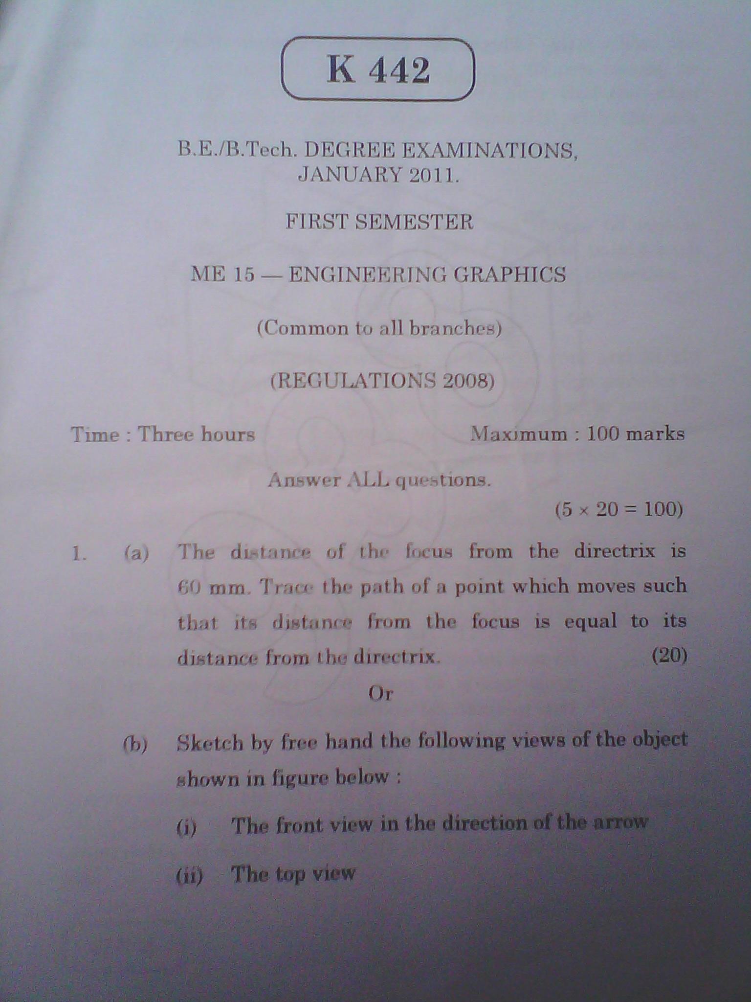 anna university chennai b e   b tech  degree examinations