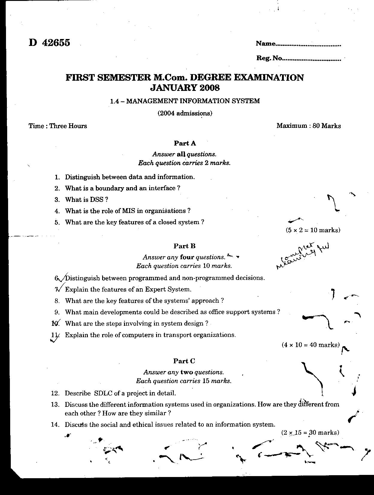 mis question paper The library provides access to electronic copies of past deakin university  examination papers submitted for deakin university students and that have been .