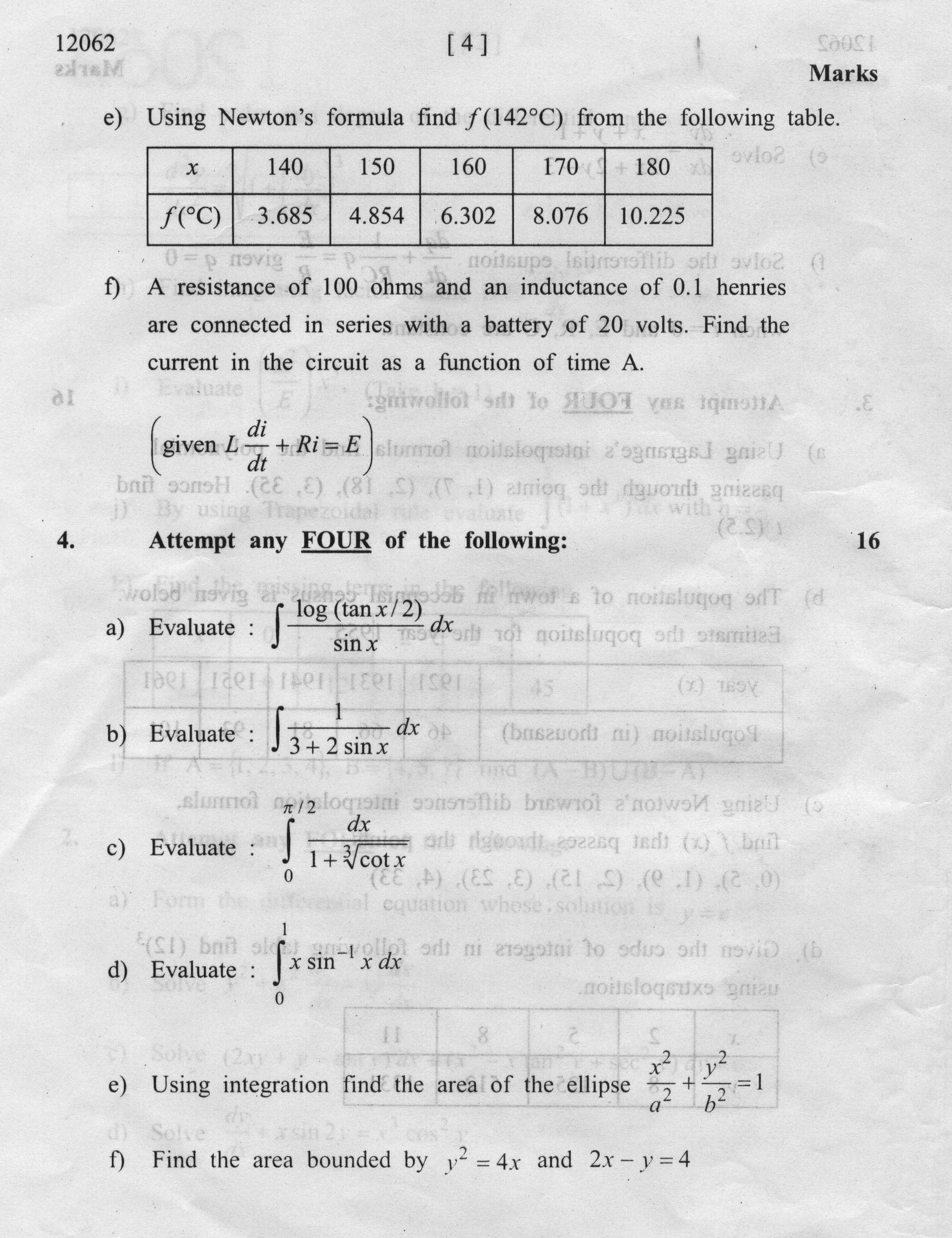 Applied Mathematics - M3 Notes For MSBTE Diploma All Faculties