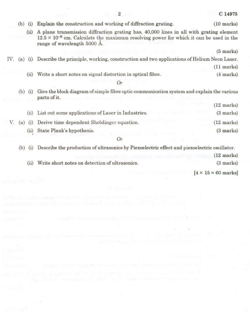 University Question for Electronic Engineering Degree?