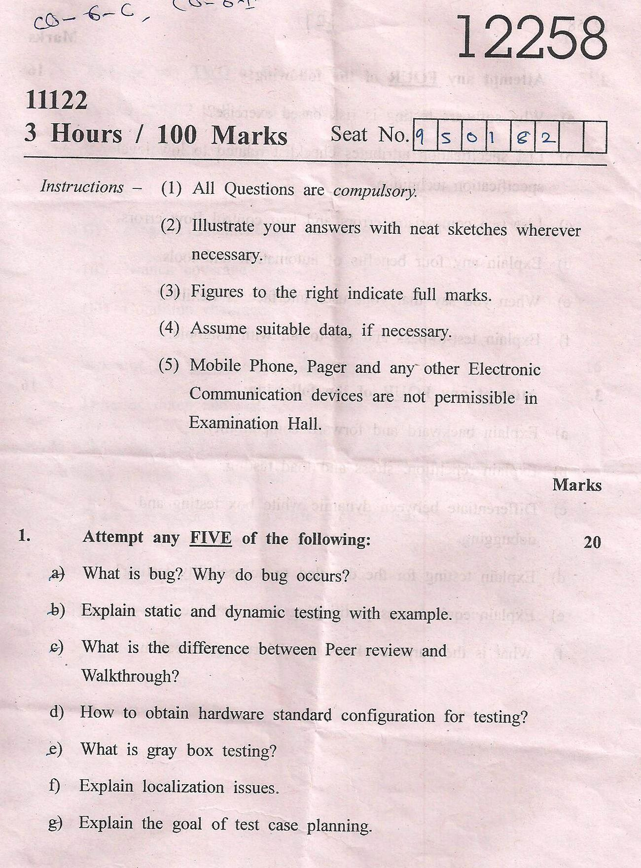 Research paper testing software engineering