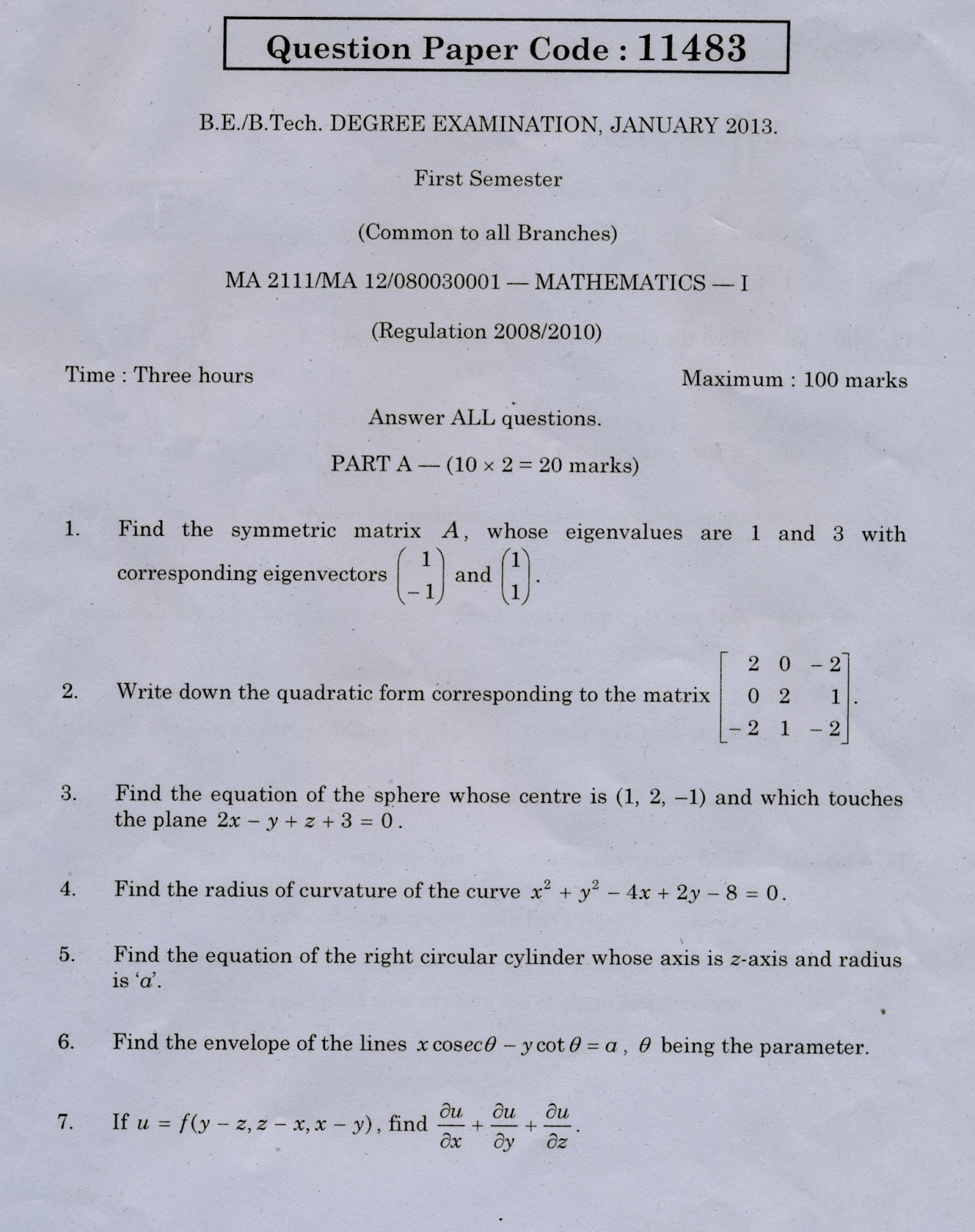 engineering mathematics 2 pdf regulation 2008