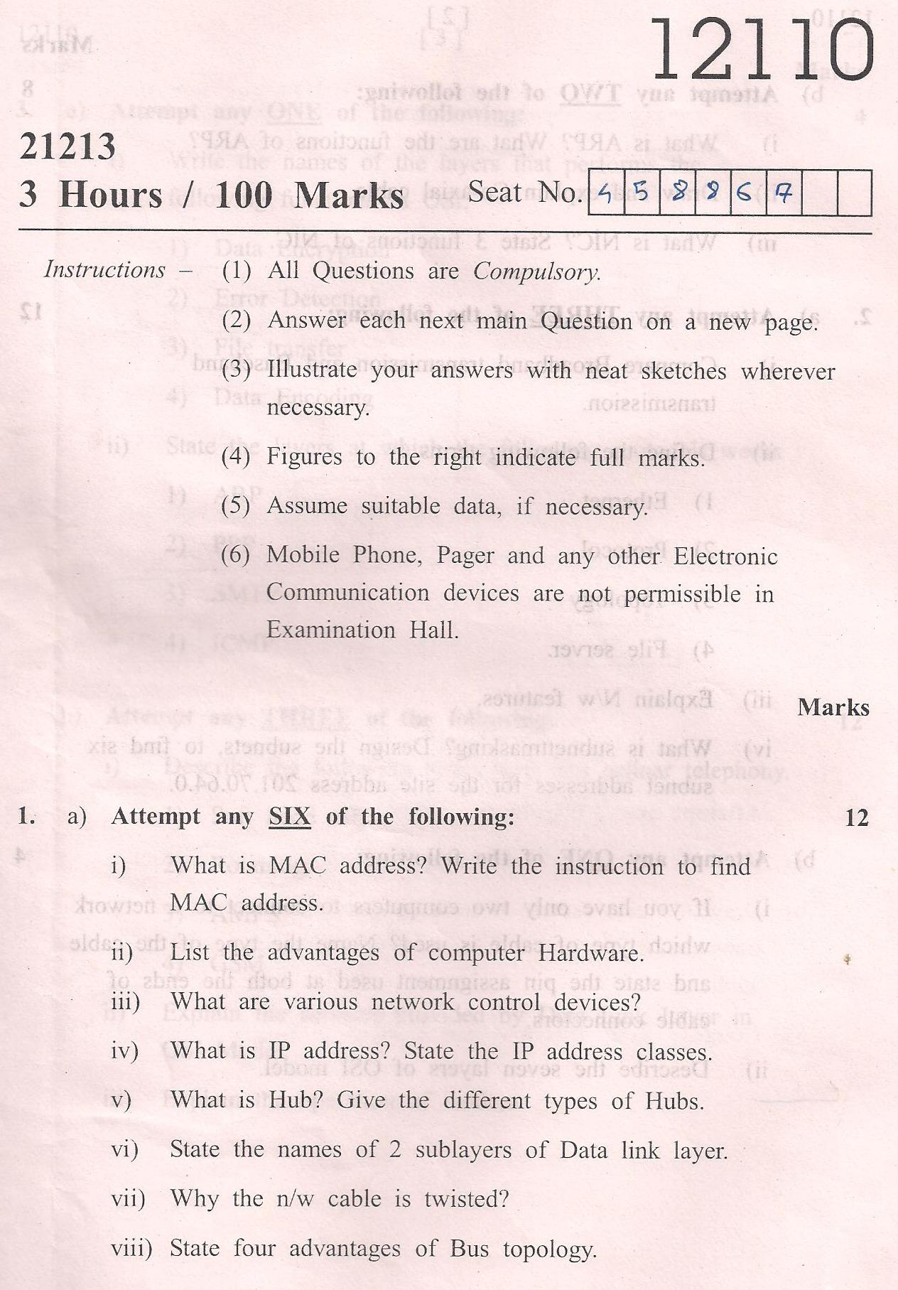 Computer Networking second year medical college subjects india