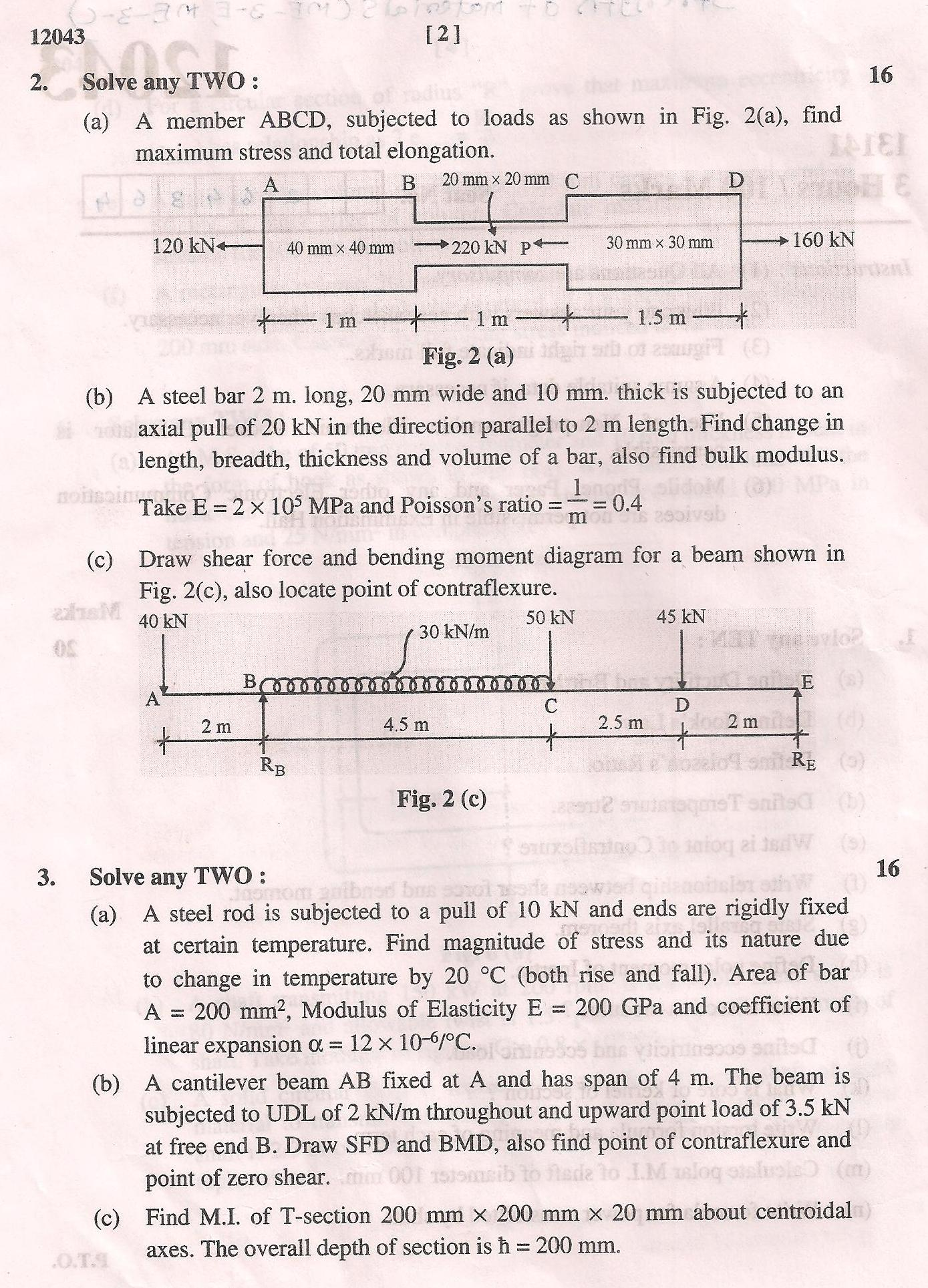 Teach Me How To Volume 2013 General Diploma Mechanical Engineering Original  Question Paper Of Maharashtra State