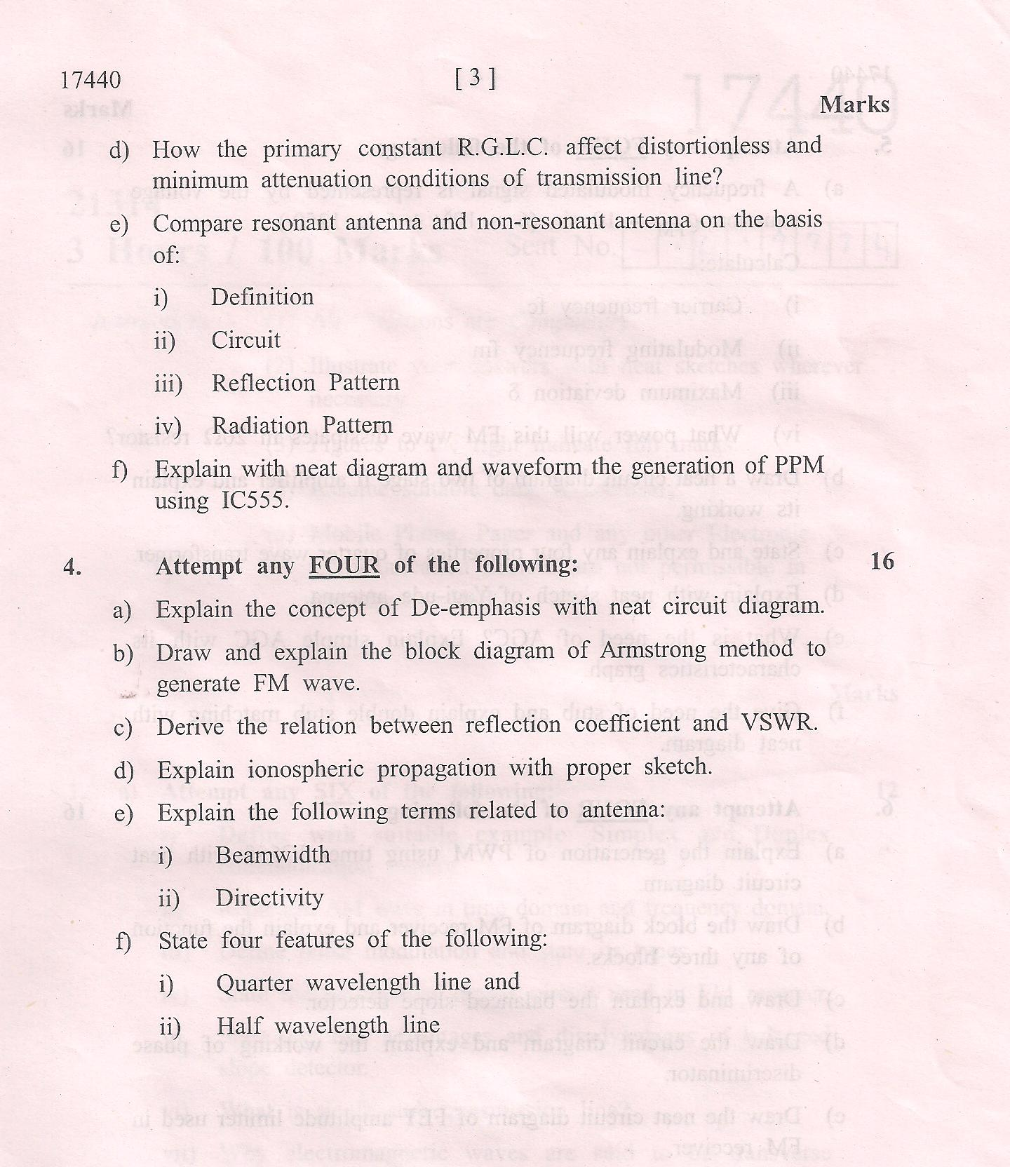 general maharashtra state board of technical education msbte  2014 general diploma electronics tele communication maharashtra state board of technical education msbte original question paper of diploma in