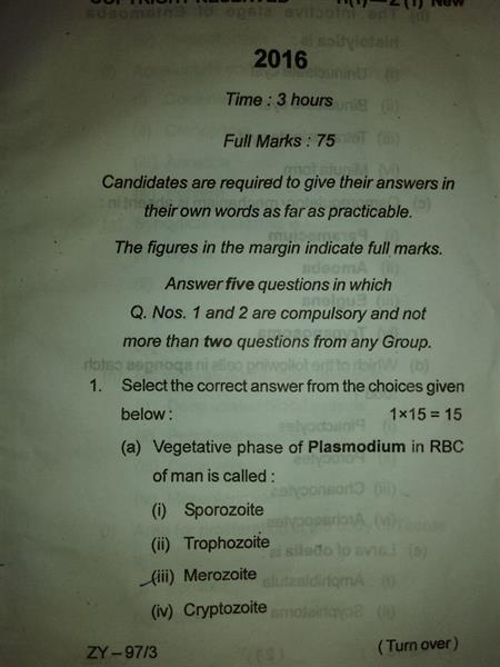 Old Question Paper for various MBA Programme - III & IV Semester