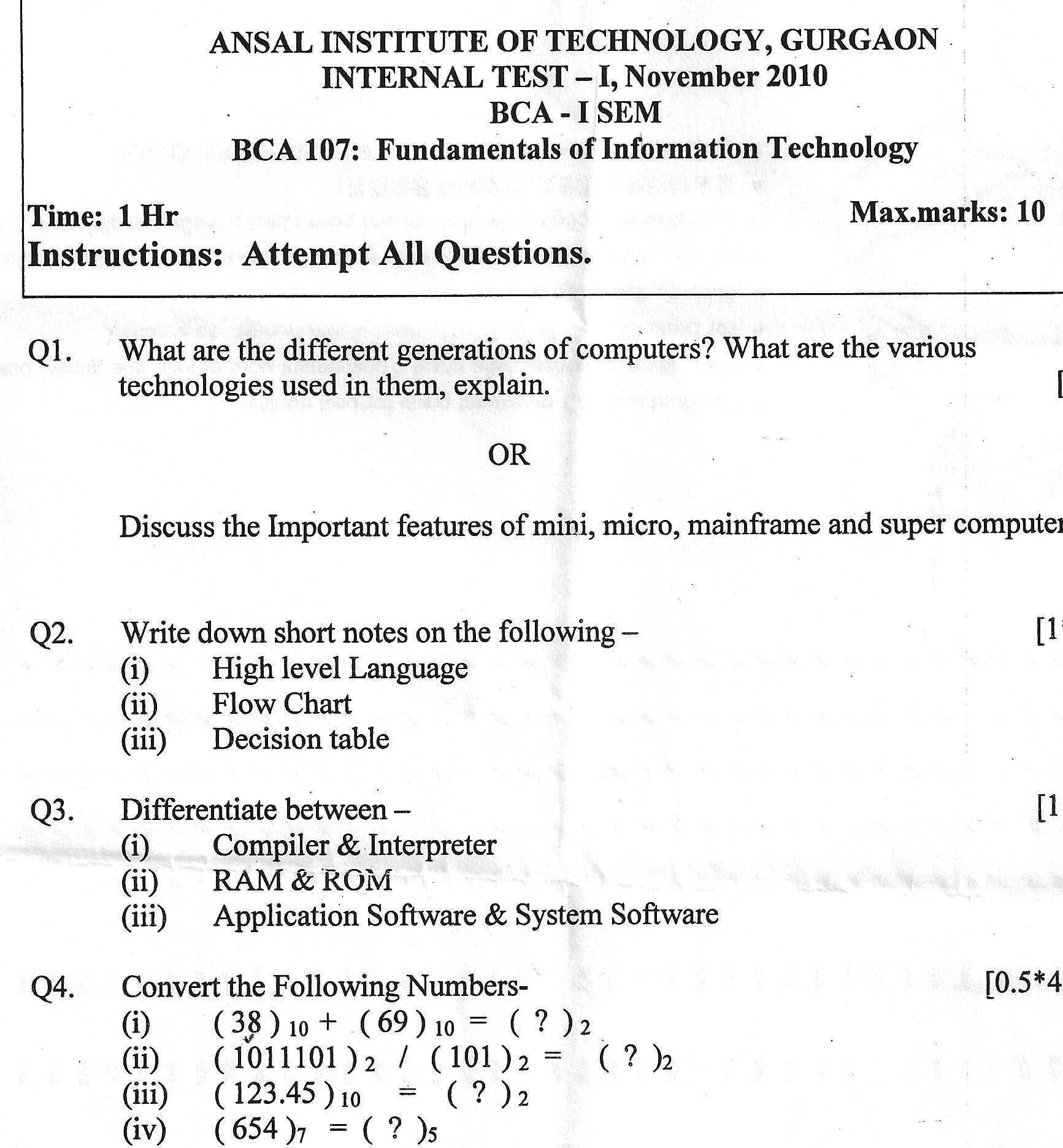 information technology test Computer & information technology 11200 waiver exam test out of cit 11200 students who are proficient in computer hardware, software, networking, security, the internet, and applications may choose to take the waiver exam for cit 11200, information technology fundamentals.