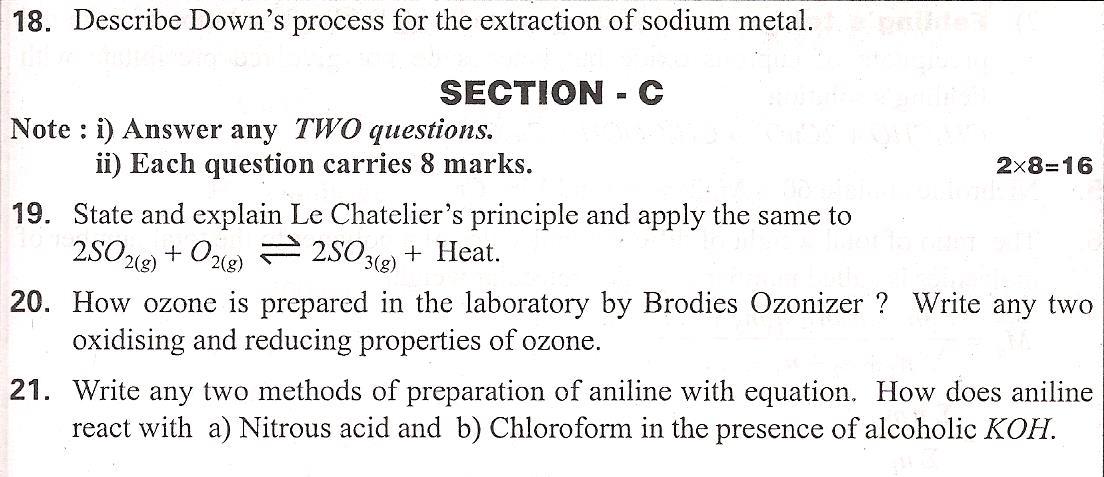 Andhra pradesh intermediate chemistry question paper 2011