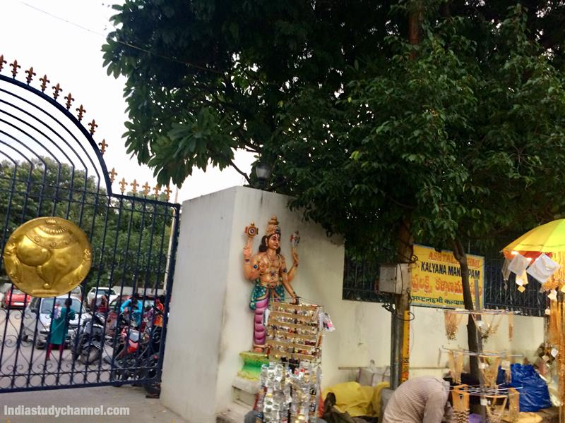 Entrance to kalayana mandapam of Ashtalakshmi temple in Hyderabad