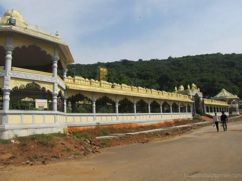 Outside the Simhachalam Varaha Laxmi Narasimha Swamy Temple