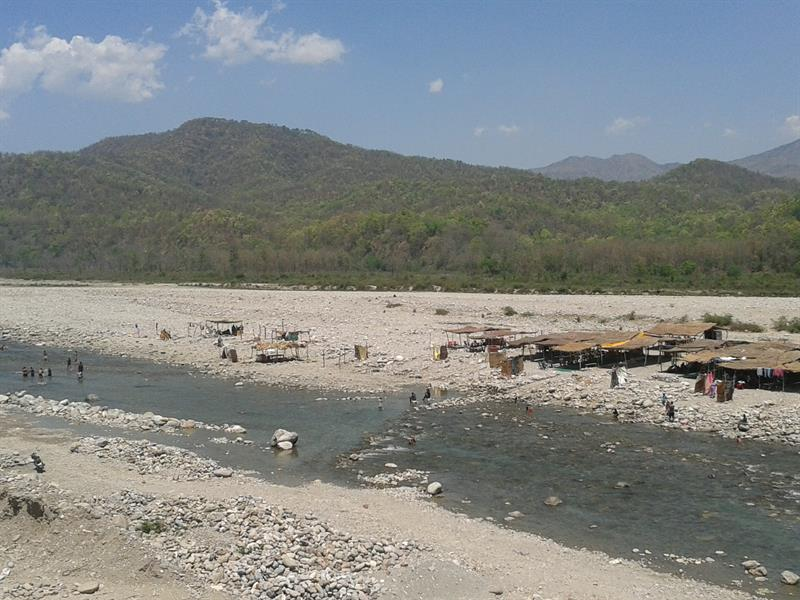 Kosi river flow from Jim Corbett National Park