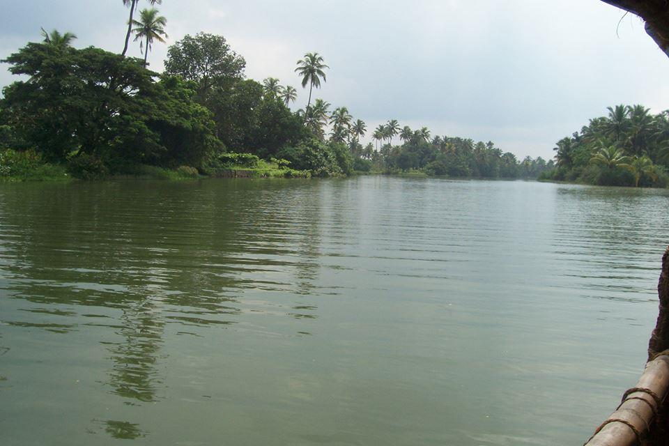 Clear water channels in Kerala