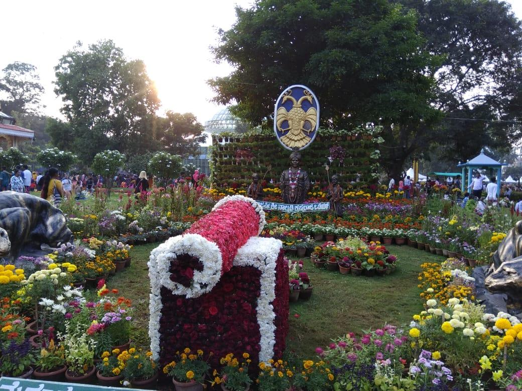 Flower show in dasara