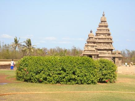 The magnificent Shore Temple at Mahaballipuram