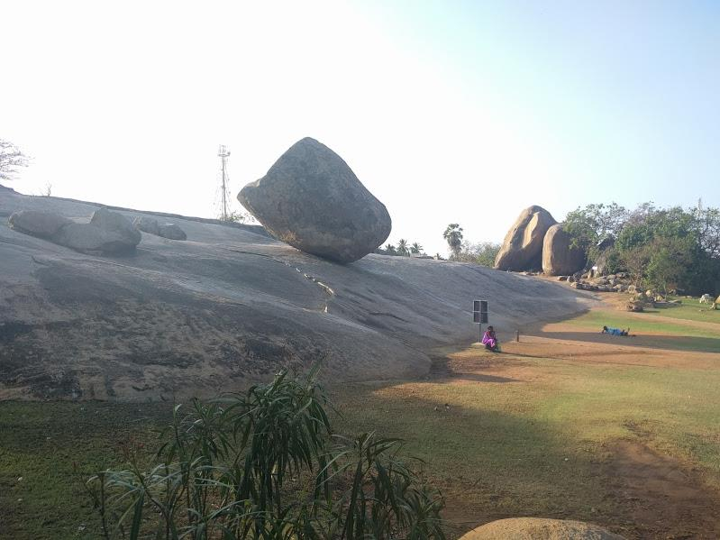 Krishnas Butter Ball located at Mahaballipuram