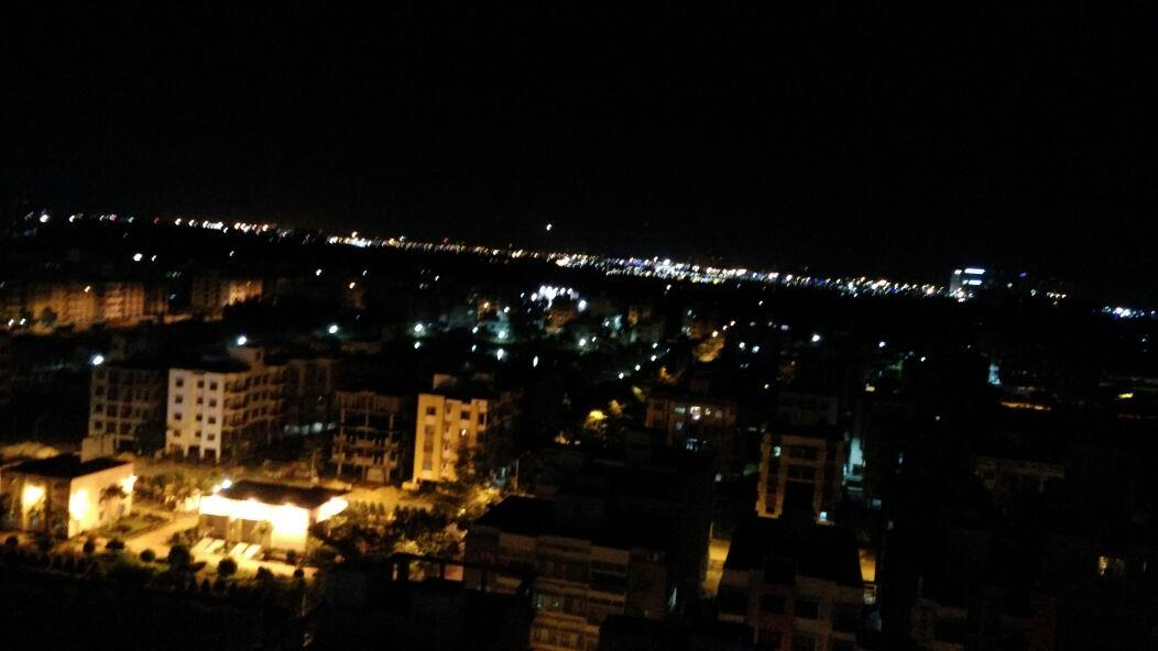 Night view of the city from the top,Kolkata
