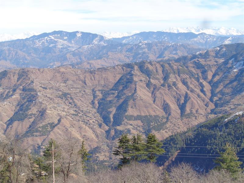 View of mountain in Shimla