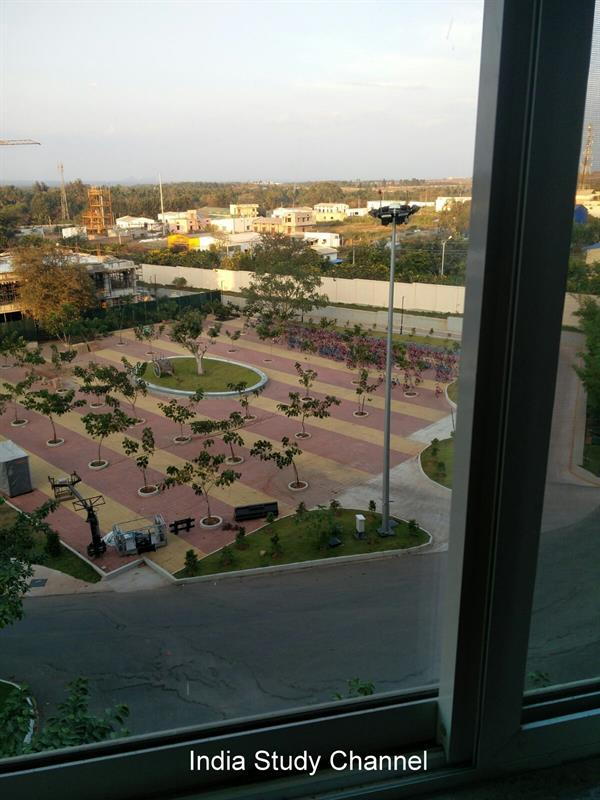 The overview of Infosys campus from hostel