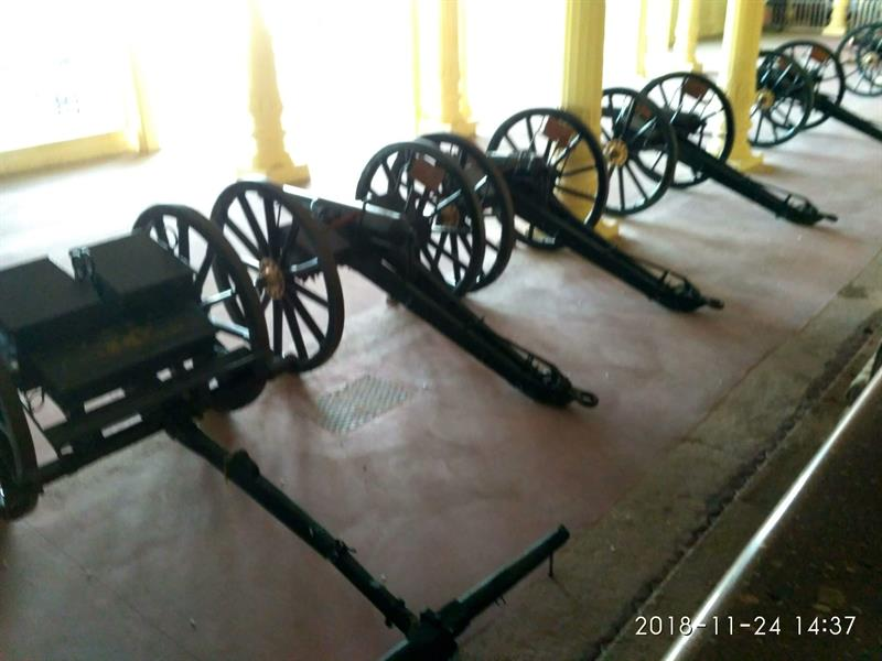 Exhibition of Cannon Guns used by Tipu sultan
